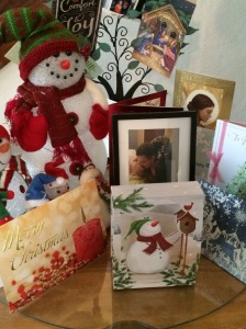 A sampling of the Christmas cards we received this year.