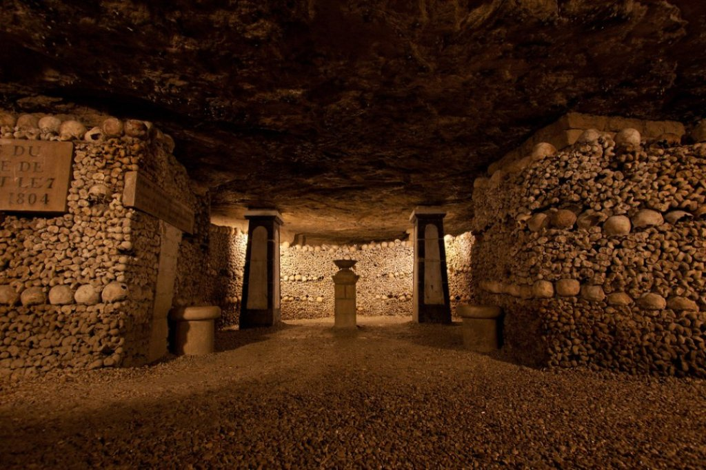 This image has an empty alt attribute; its file name is paris-catacombs-three.jpg